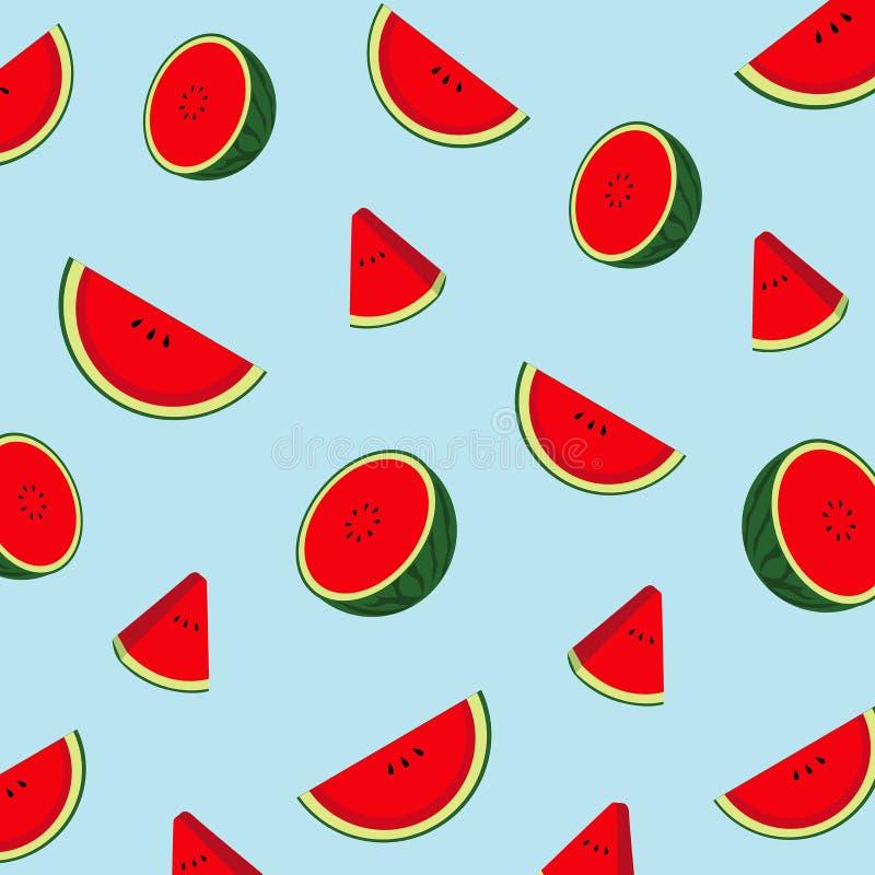 Patroonwatermeloen voor drukproduct royalty-vrije illustratie