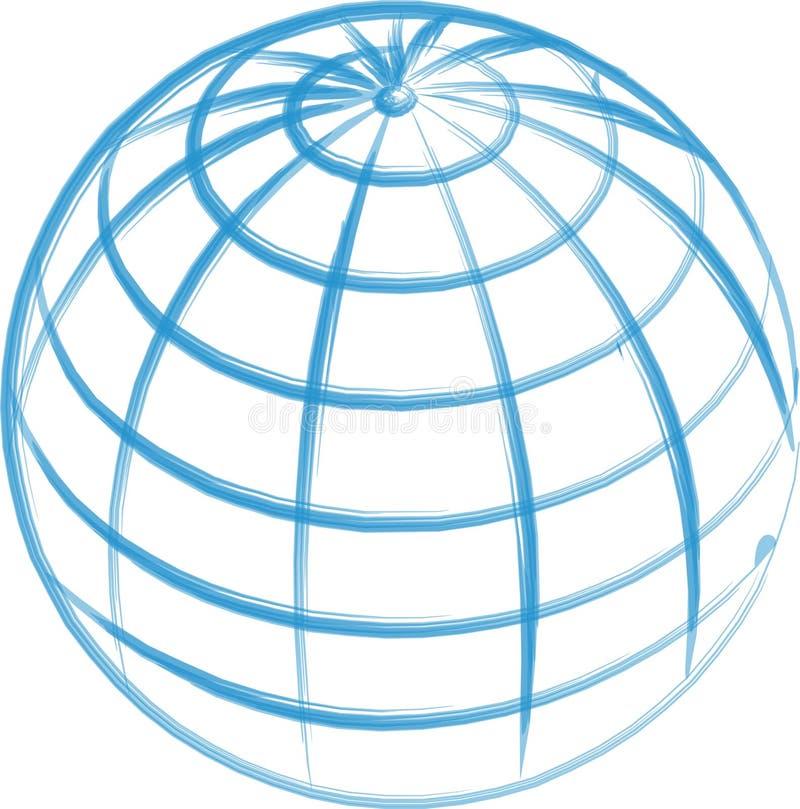 patroszona globe ręka występować samodzielnie ilustracji