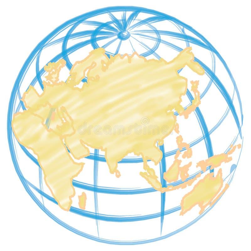 patroszona globu ilustracja ręce ilustracji