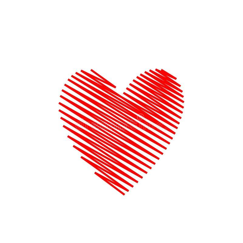 patroszona ręki serca czerwień ilustracji