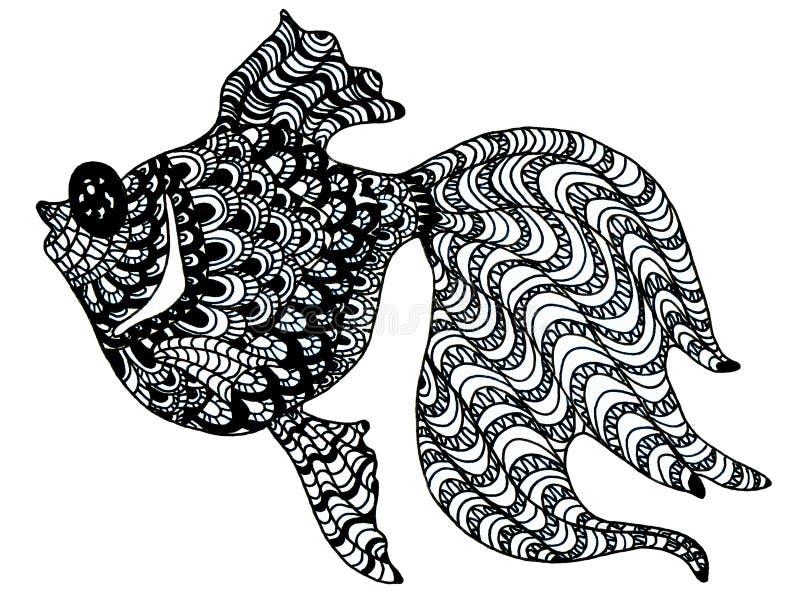 patroszona rybia ręka ilustracji