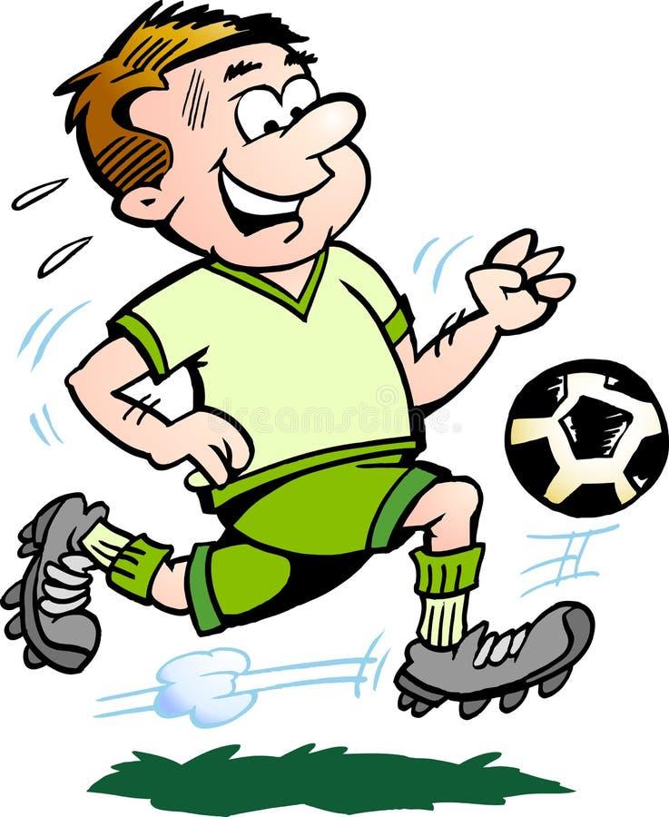 patroszonej ręki ilustracyjny gracza piłki nożnej wektor royalty ilustracja