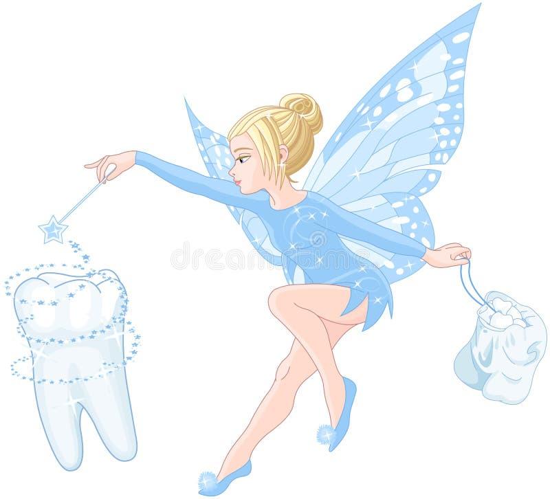 patroszony czarodziejski ręki ilustraci ząb royalty ilustracja