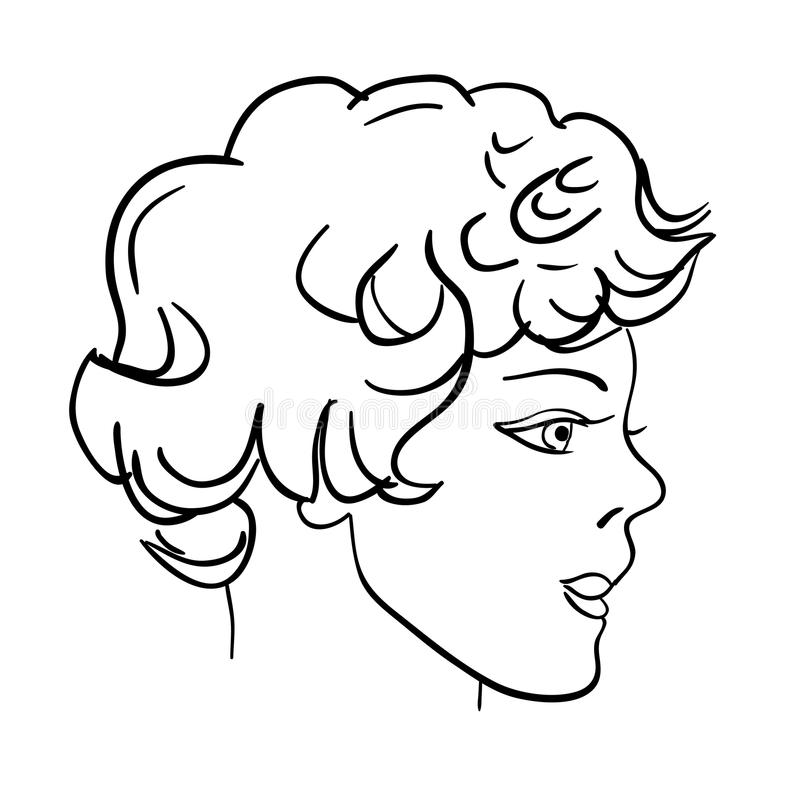 patroszony twarzy mody ręki mężczyzna model ilustracji