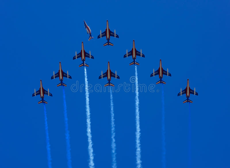 Download Patrouille De France Formation Flight Editorial Image - Image: 14632860
