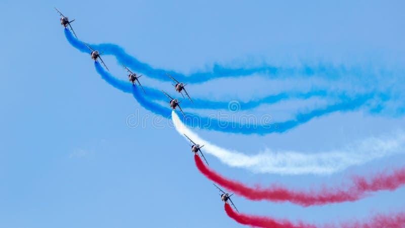Patrouille de Francja aerobatics drużyna obraz royalty free