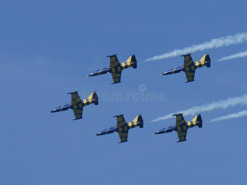 Patrouille DE Frankrijk - de Lucht toont 2 Juni 2018 royalty-vrije stock afbeeldingen