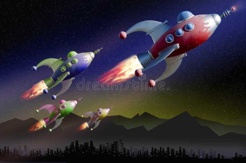 Patrouille de l'espace d'exploration illustration stock