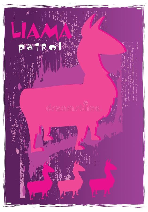 patrouille de lama illustration libre de droits