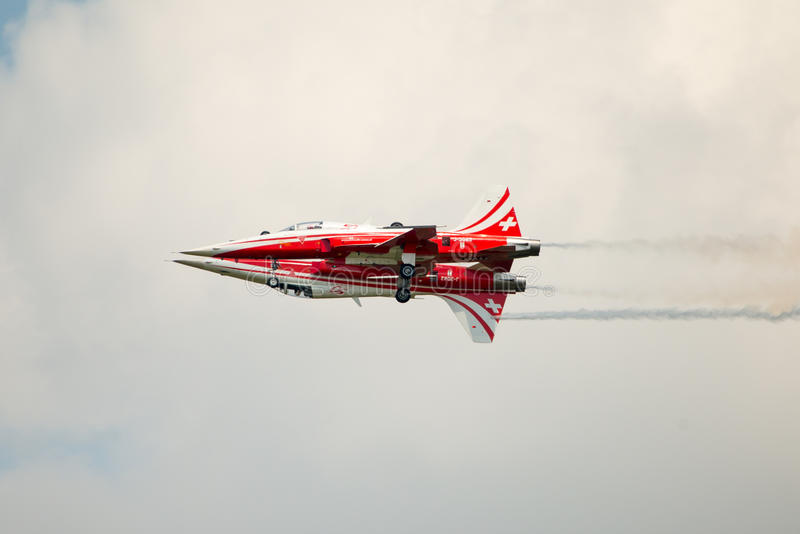 Patrouille Suisse F5 pair stock photography