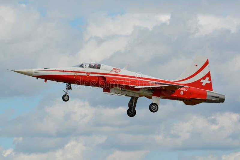 Patrouille Suisse, Northrop F-5 tygrys/II zdjęcia stock