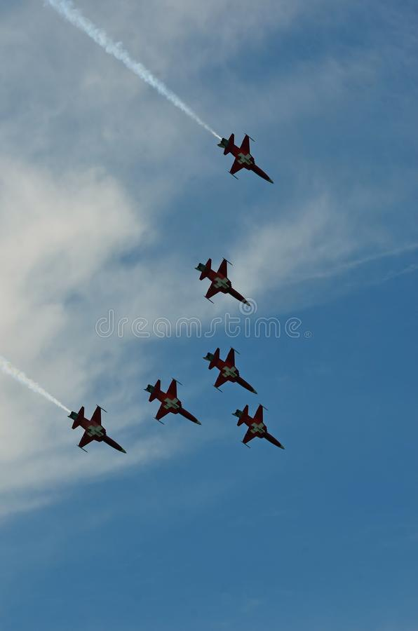 Patrouille Suisse stock photography