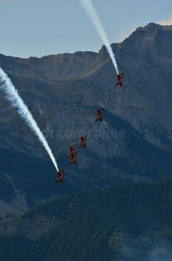 Patrouille Suisse royalty free stock photography