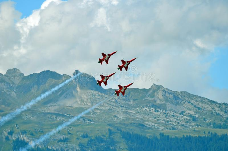 Patrouille Suisse royalty free stock photos