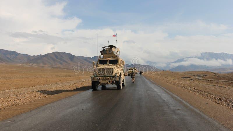 Patrouille tchèque en Afghanistan images libres de droits