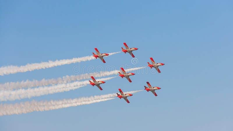 Patrulla Aguila al Dubai Airshow immagine stock libera da diritti