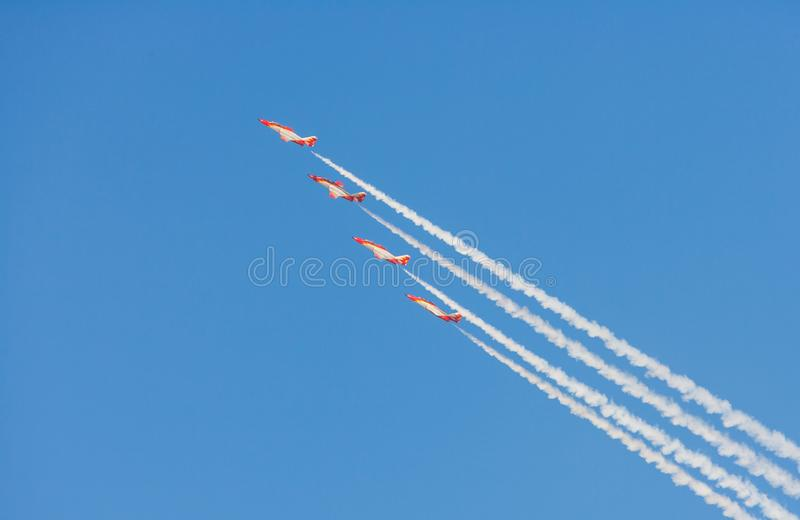 Patrulla Aguila al Dubai Airshow fotografie stock