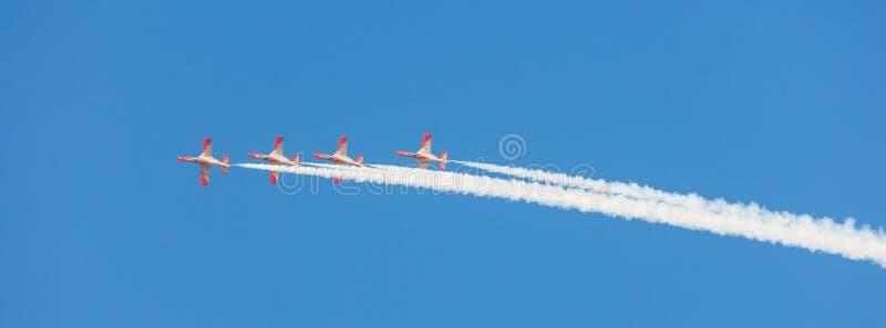 Patrulla Aguila al Dubai Airshow fotografie stock libere da diritti