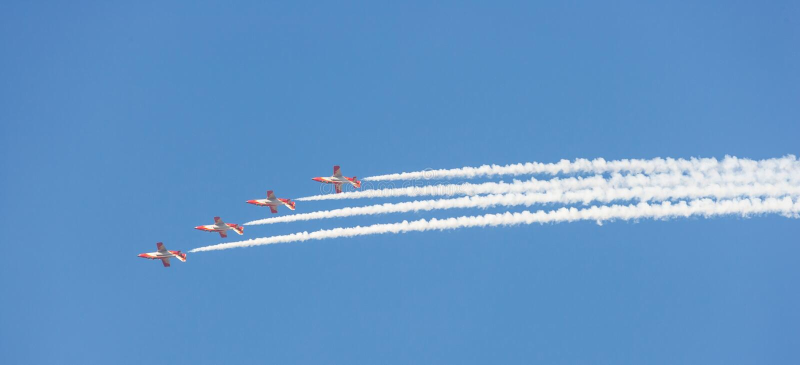 Patrulla Aguila al Dubai Airshow immagini stock