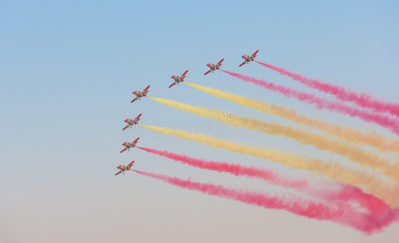 Patrulla Aguila al Dubai Airshow fotografia stock libera da diritti