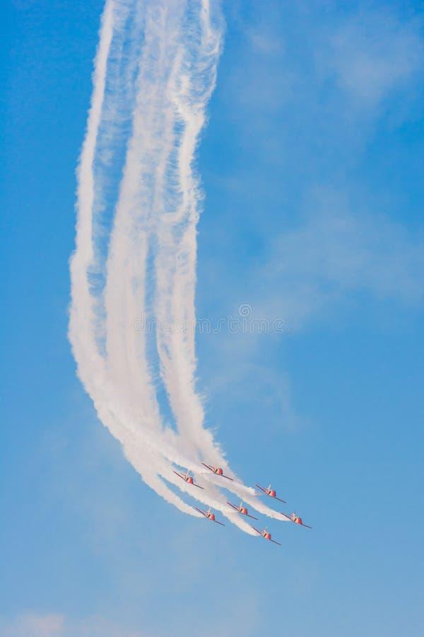 Patrulla Aguila al Dubai Airshow fotografia stock