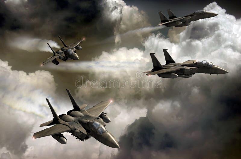 Patrulla de los combatientes ilustración del vector