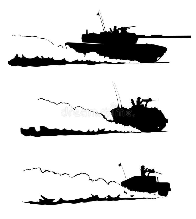 Patrulla del desierto ilustración del vector