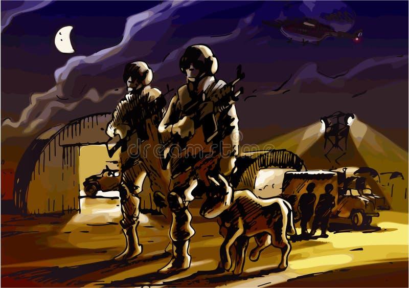 patrullera stock illustrationer