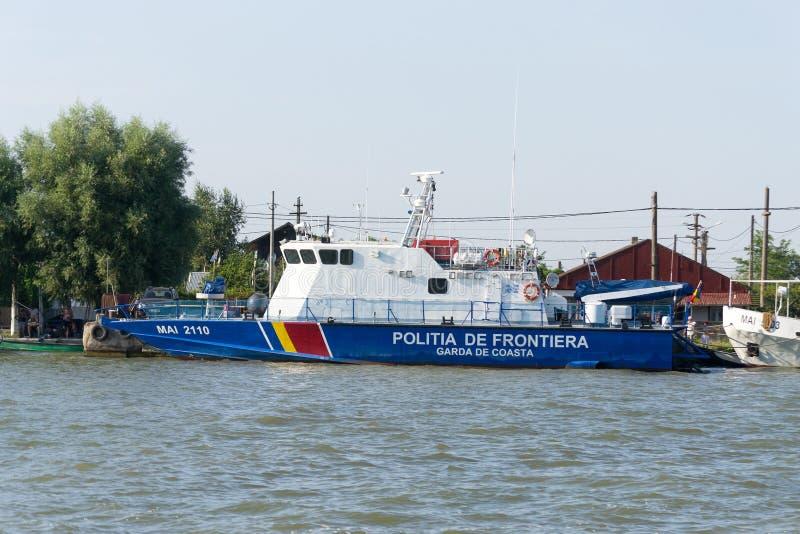 Patrullera rumana de la policía fronteriza foto de archivo libre de regalías