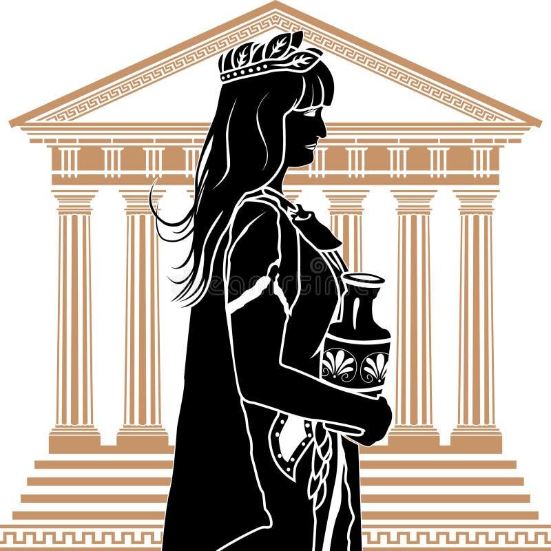 patrycjalna rzymska kobieta royalty ilustracja