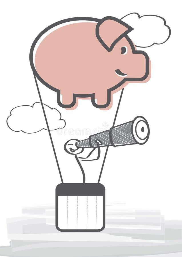 Patrzeć dla inwestyci ilustracja wektor