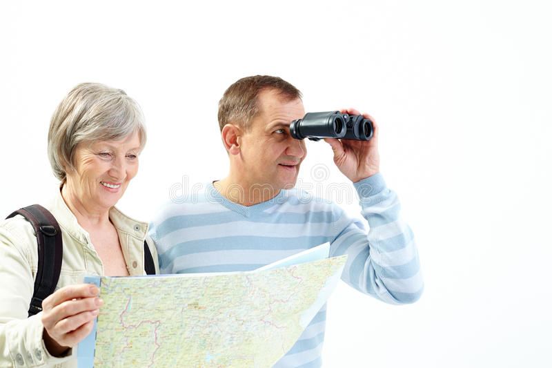 Patrzeć dla podróżować fotografia stock