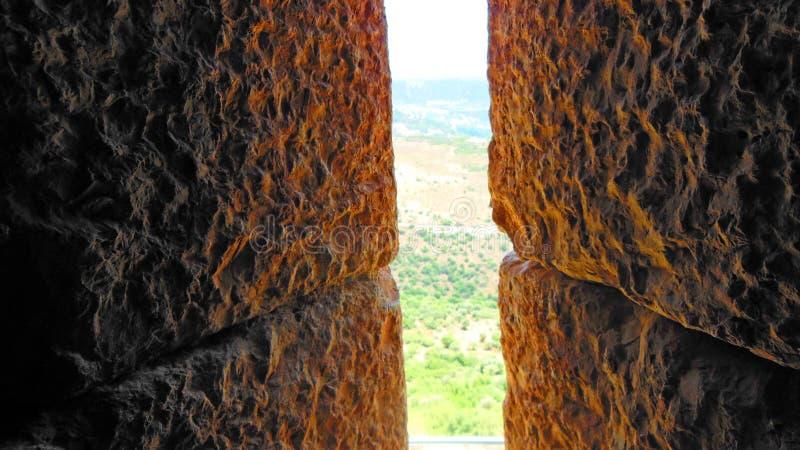 Patrzeć od wieżyczki nemroda forteca zdjęcie stock