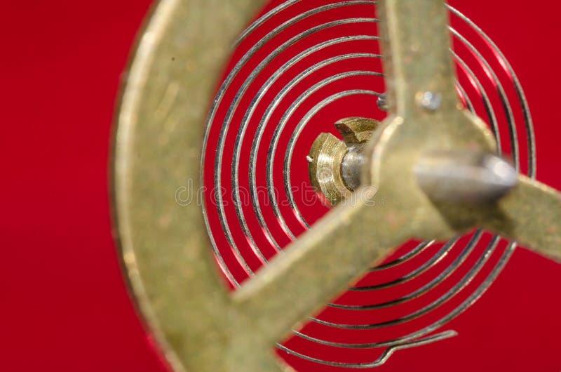 Patrzeć Przez rocznika Kruszcowego Balansowego koła Swój Hairspring fotografia royalty free