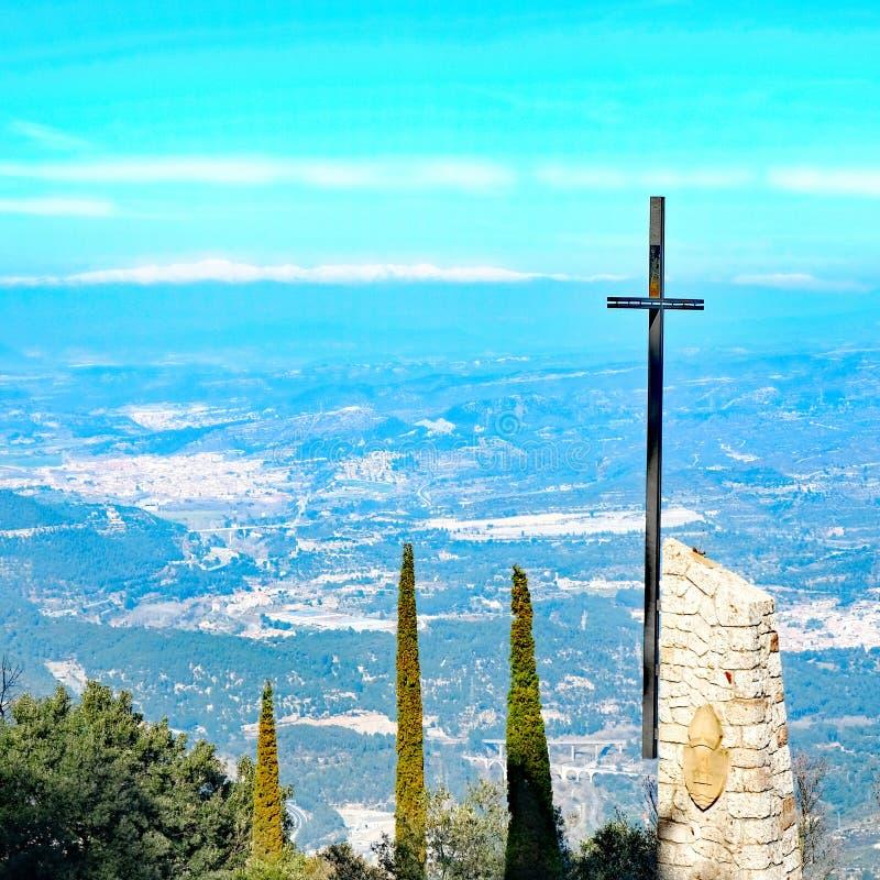 Patrzeć w dół od Montserrat obraz royalty free
