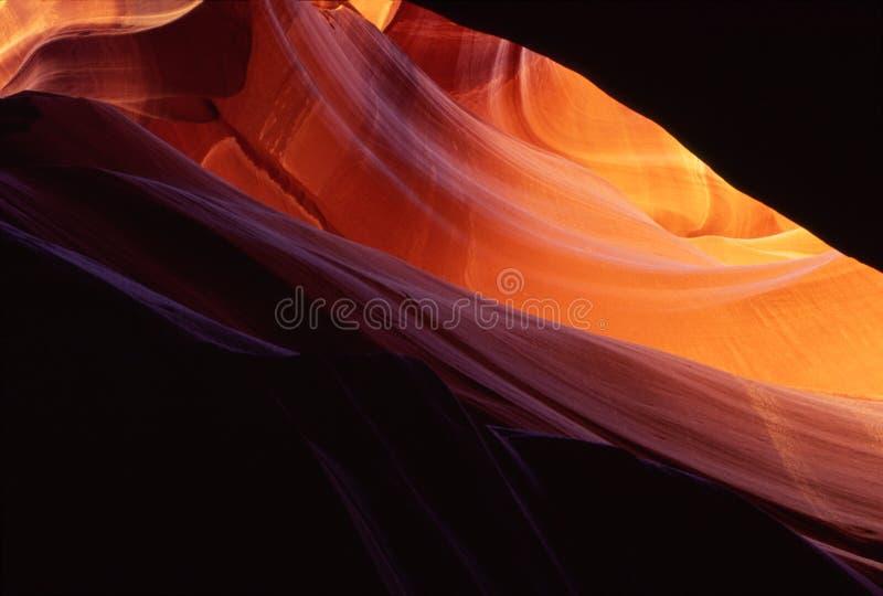 patrzeć w górę kanionu antylopy fotografia stock