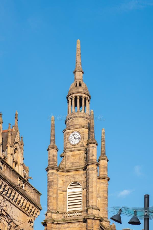 Patrzejący Do Zegarowy wierza, St Georges Tron kościół Glasgow obraz royalty free
