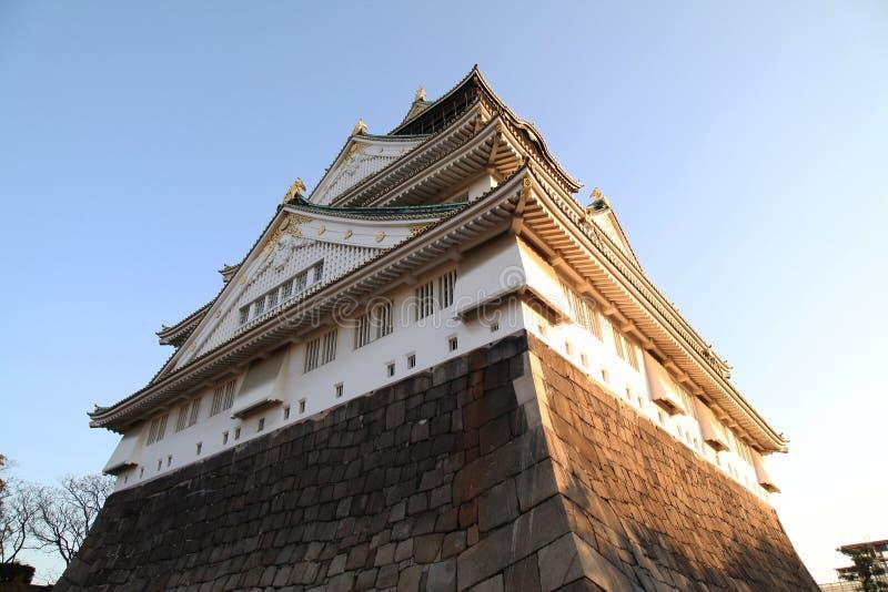 Patrzeje bocznego Osaka kasztel obrazy royalty free