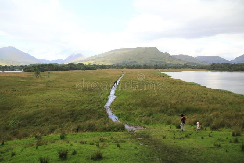Patrzeje grodowy Kilchurn w loch respekcie w Higlands Szkocja zdjęcia royalty free