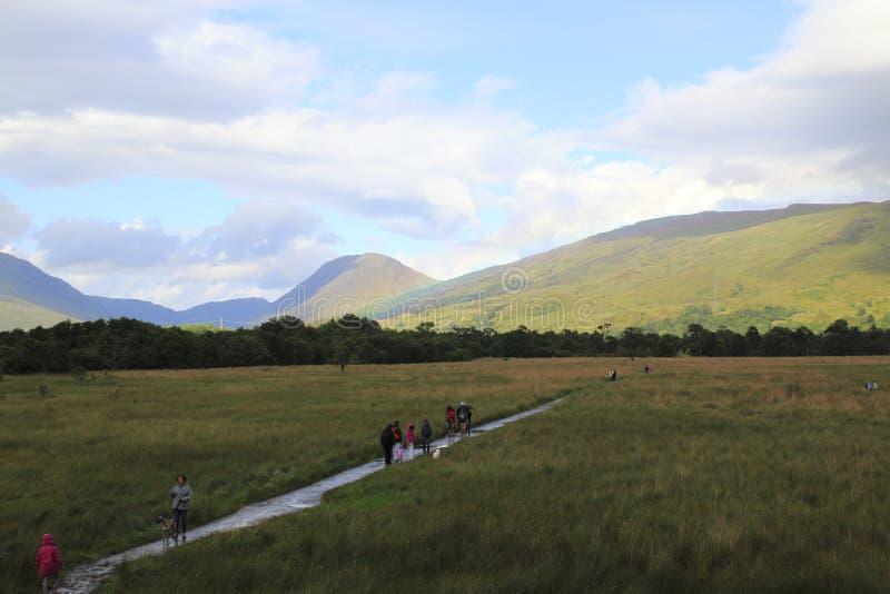Patrzeje grodowy Kilchurn w loch respekcie w Higlands Szkocja obrazy stock