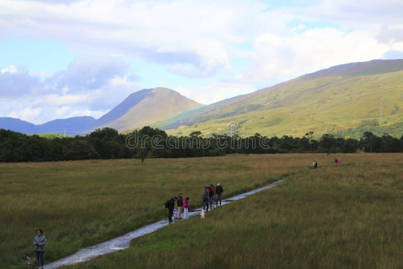 Patrzeje grodowy Kilchurn w loch respekcie w Higlands Szkocja fotografia royalty free
