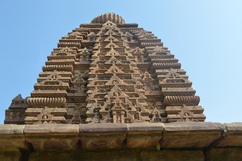 Pattadakaltempels en monumenten, Karnataka stock afbeelding