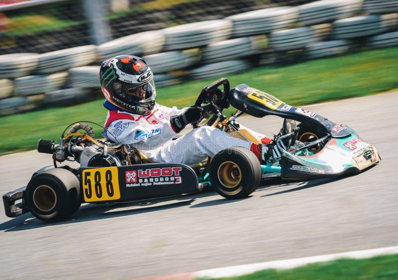 PATTATA, ΤΑΪΛΑΝΔΗ 2 Σεπτεμβρίου: Πηγαίνετε οδηγώντας κατάρτιση Kart και rac στοκ εικόνες