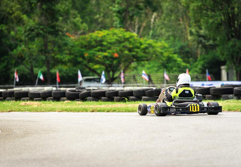PATTATA,THAILAND-MAY 20: Go Kart driving training and racing in royalty free stock photos