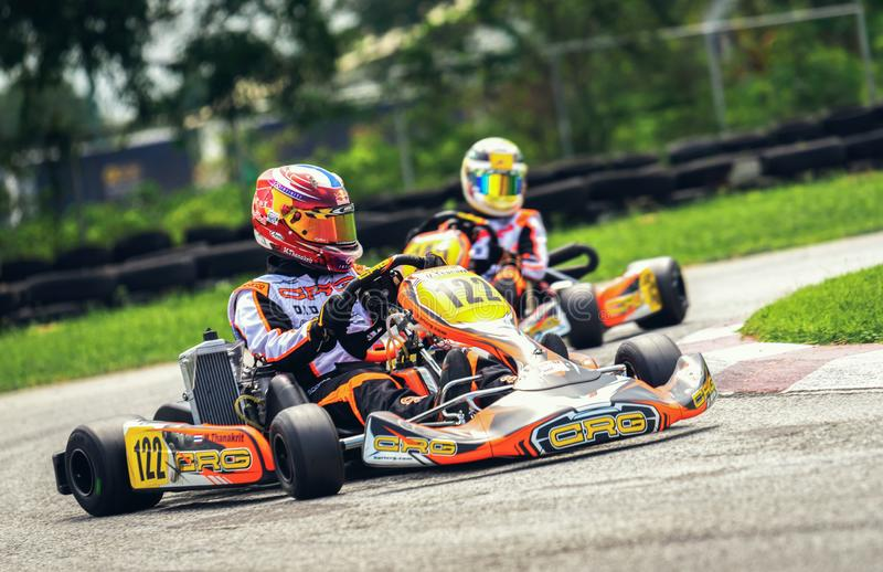 PATTATA,THAILAND-MAY 20: Go Kart driving training and racing in stock photos
