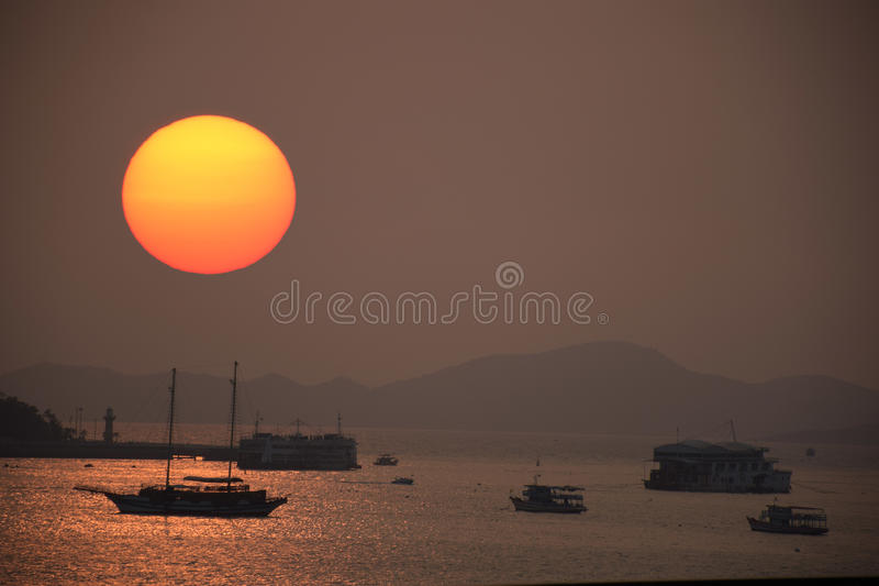 Pattaya ηλιοβασιλέματος της Ταϊλάνδης στοκ φωτογραφίες με δικαίωμα ελεύθερης χρήσης