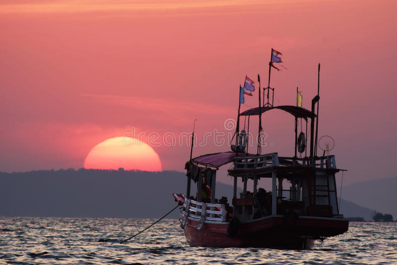 Pattaya ηλιοβασιλέματος της Ταϊλάνδης στοκ φωτογραφία με δικαίωμα ελεύθερης χρήσης