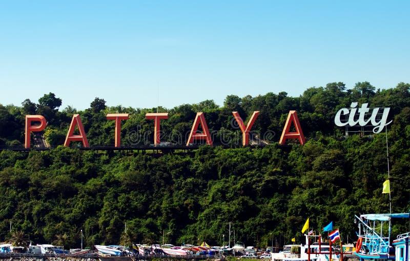 Pattaya. Landmark of Pattaya city Thailand royalty free stock photos