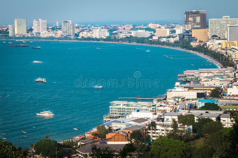 Pattaya. Top view of pattaya beach, Thailand royalty free stock photos