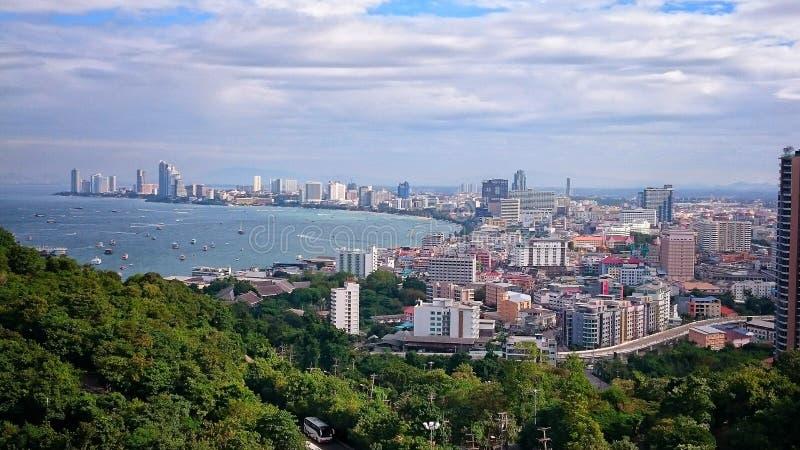 Pattaya-Ansicht stockfotografie